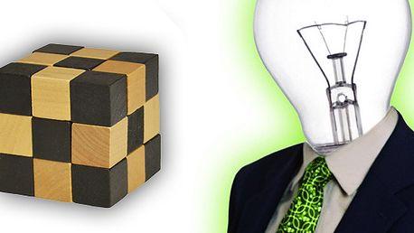 Inteligentní hlavolam ve tvaru dřevěne kostky. Snake hubo