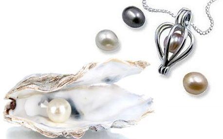 Unikátní perla přání s přívěskem a řetízkem