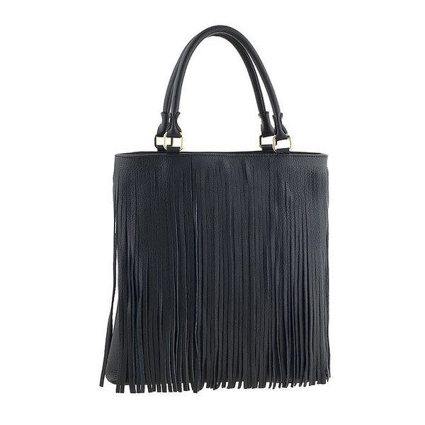 Dámská černá kabelka s třásněmi Valentina Italy