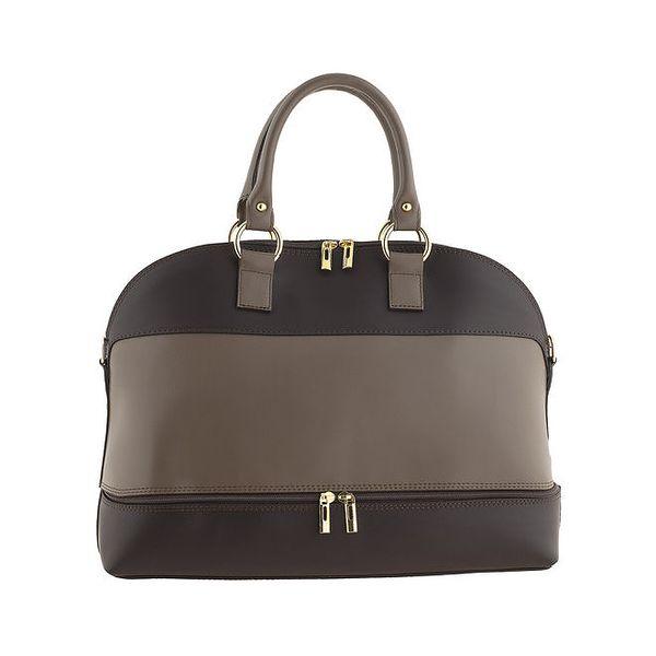 Dámská dvoubarevná kabelka se zlatými zipy Valentina Italy