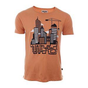 Pánské oranžové tričko s městem River Rock