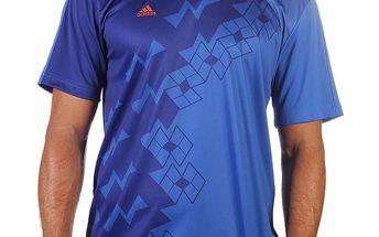 Pánské modré tričko s krátkým rukávem Adidas