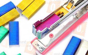 Barevné sponky do sešívačky - 4 barvy a poštovné ZDARMA! - 28902859