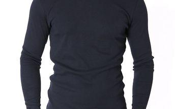 Pánské tmavě modré tričko s dlouhým rukávem Santa Barbara
