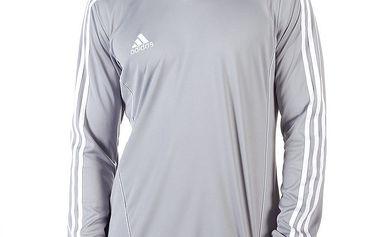 Pánské šedé tričko s dlouhým rukávem Adidas