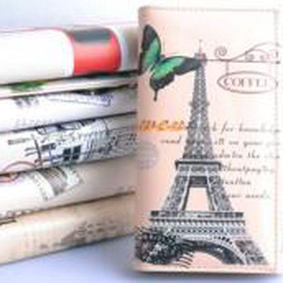 Elegantní peněženka s motivem PARIS či LONDON