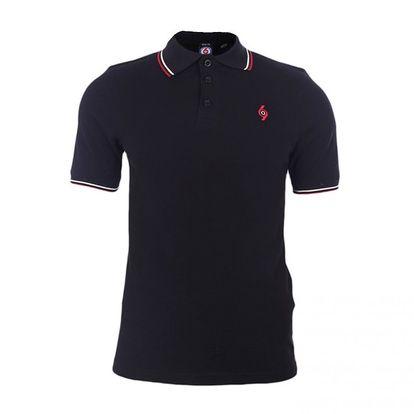 Pánské černé polo tričko s výšivkou The Spirit of 69
