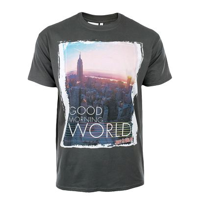 Pánské tmavě šedé tričko s potiskem Not Guilty Rich Boy