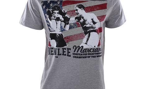 Pánské šedě melírované tričko s boxerským obrázkem Benlee