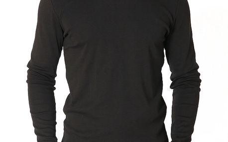 Pánské černé tričko s dlouhým rukávem Santa Barbara