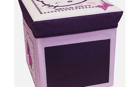 Úložný box/stolička s motivem Hello Kitty