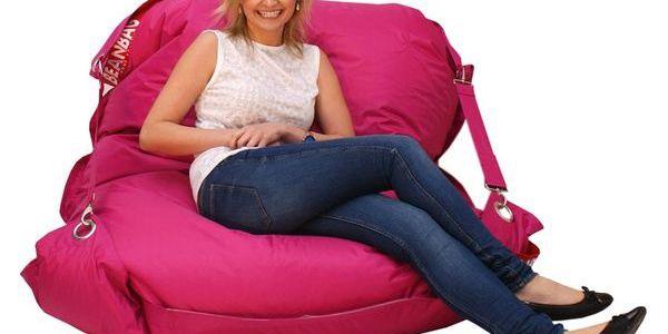 Sedací pytel Beanbag comfort s popruhy pink