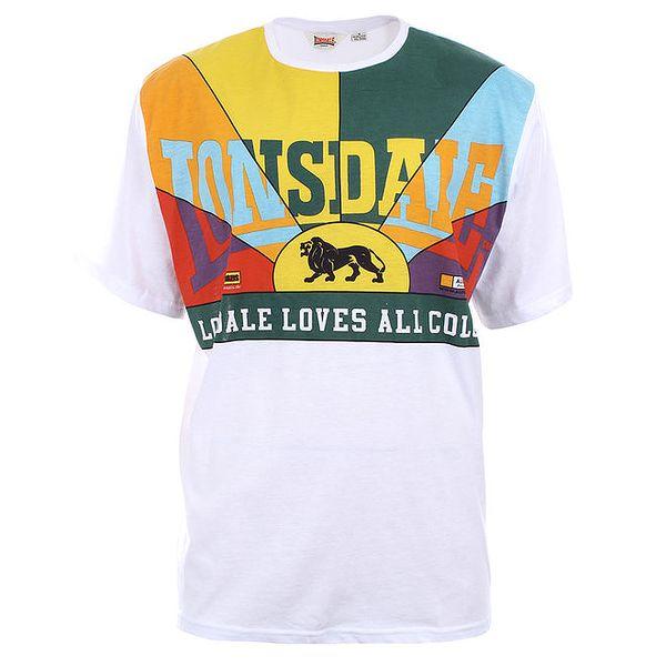Pánské bavlněné tričko s barevným dekoltem Lonsdale