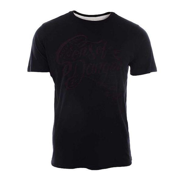 Pánské tričko v černé barvě s potiskem Timeout