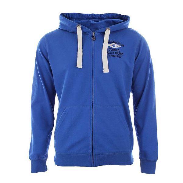 Pánská modrá mikina s kapucí Timeout