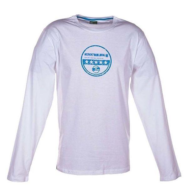 Pánské bílé tričko s dlouhým rukávem Envy