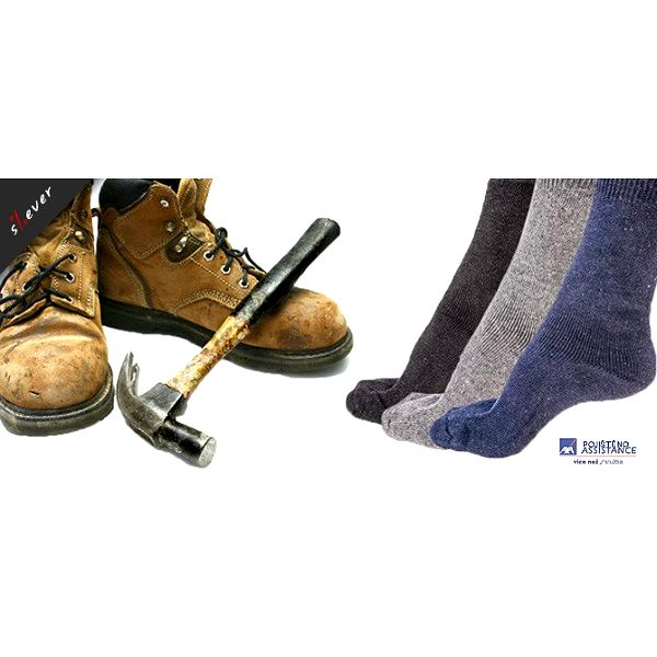 5 párů pevných kvalitních pracovních ponožek sklasickou patou, černá barva - vyrobeno vNěmecku, přímý dovoz
