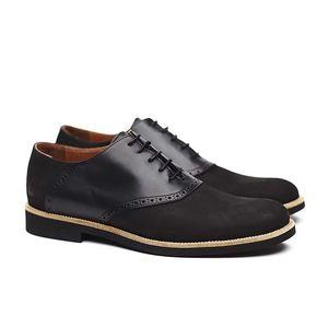 Pánské černé polobotky v kombinaci semiše a kůže Shoe the Bear