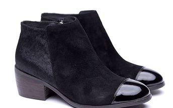 Dámské chlupaté boty s lesklou špičkou Shoe the Bear