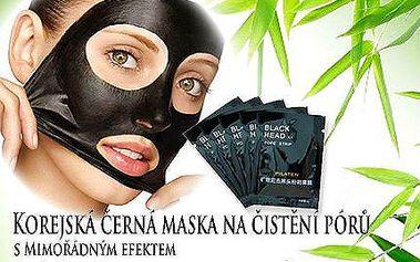 10 ks čistící korejské černé masky vč. doručení
