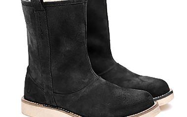Dámské černé semišové hucule Shoe the Bear