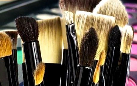 Kosmetické make-up štětce z přírodního vlasu: 24dílná sada včetně praktického pouzdra!