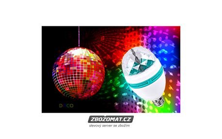 Disco žárovka nesmí chybět na žádné párty!