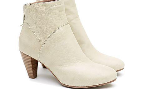 Dámské smetanové kotníčkové boty Shoe the Bear