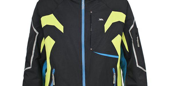Pánská černá lyžařská bunda s barevnými detaily Trespass