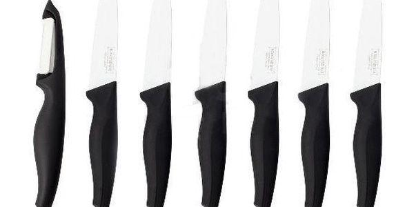 Sada 5 nožů a škrabky Utility, černá