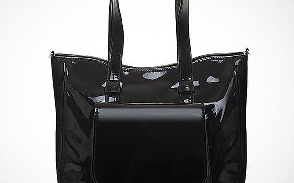 Dámská lakovaná černá kabelka Felice