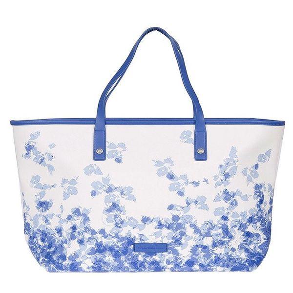 Dámská modro-bílá vzorovaná kabelka Calvin Klein Jeans