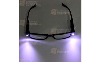Dioptrické brýle na čtení s LED osvětlením a poštovné ZDARMA! - 29510402