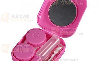 Růžové pouzdro na kontaktní čočky s výbavou a poštovné ZDARMA! - 29108894