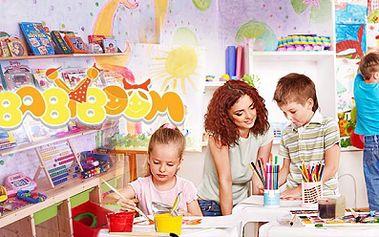Svěřte své dítě školce Babyboom na Palmovce! 30, 50 nebo 100 hodin pobytu DÍTĚTE včetně zábavných zájmových KROUŽKŮ, STRAVY a pitného režimu od 1495 Kč!