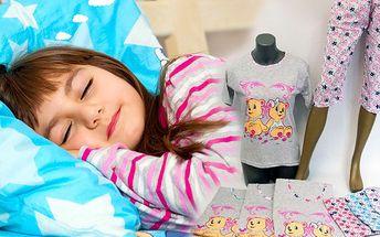 Dámské bavlněné pyžamo s roztomilým obrázkem