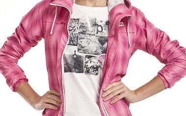 Dámská růžová sportovní bunda s kapucí Alpine Pro
