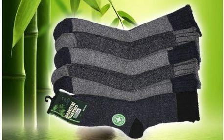 Šest párů pánských nebo dámských antibakteriálních ponožek na zimu s bambusovým vláknem. Materiál bavlna s podílem bambusového vlákna, doručení je zdarma!