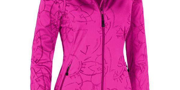 Dámská růžová softshellová bunda se vzorem Maier