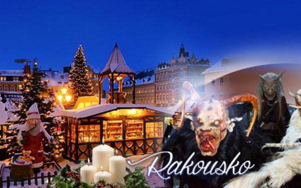ADVENTNÍ TRHY v rakouském Retzu s tradičním PRŮVODEM STRAŠIDELNÝCH ČERTŮ + možnost nákupů ve Freeportu Hatě nedaleko Znojma! Celodenní adventní zájezd s nádechem Vánoc za 299 Kč s dopravou a průvodcem!