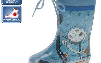 Dětské modré boty s medvídkem Beppi