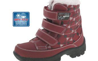 Dětské červené zimní boty Beppi