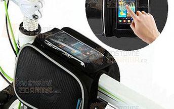 Cyklistická brašna na rám jízdního kola s kapsou pro telefon a poštovné ZDARMA! - 31509790