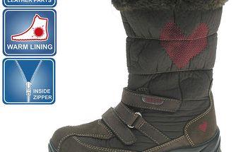 Dívčí hnědé zimní boty Beppi