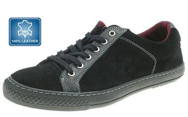 Pánské černé boty se šněrováním Beppi