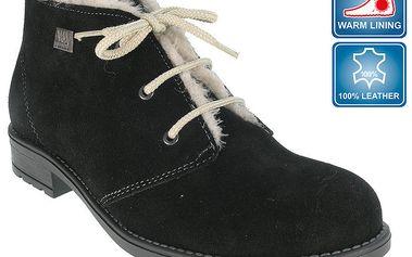 Dámské černé kotníkové boty s hřejivou podšívkou Beppi