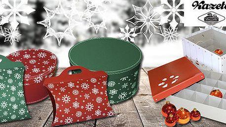 Vánoční úložné krabice od značky Kazeto