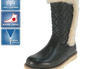 Dětské černé zateplené boty Beppi