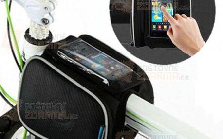 Cyklistická brašna na rám jízdního kola s kapsou pro telefon a poštovné ZDARMA! - 30809790