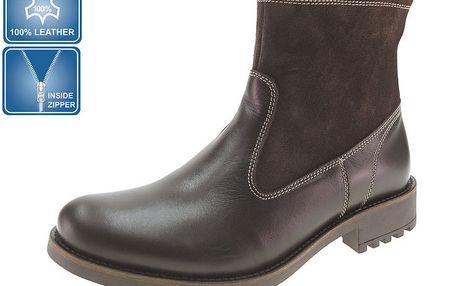 Pánské hnědé kotníkové boty Beppi